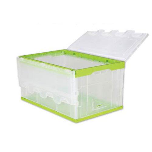 تہ کرنے پلاسٹک اٹیچی بلک سخت پلاسٹک کنٹینر کے لئے اسٹوریج کے ساتھ پہلو دروازہ